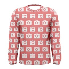 Modern Chic Vector Camera Illustration Pattern Men s Long Sleeve T-shirts