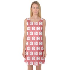 Modern Chic Vector Camera Illustration Pattern Sleeveless Satin Nightdresses