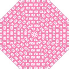 Pink Modern Chic Vector Camera Illustration Pattern Folding Umbrellas