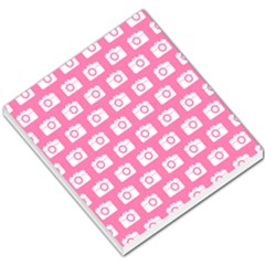 Pink Modern Chic Vector Camera Illustration Pattern Small Memo Pads