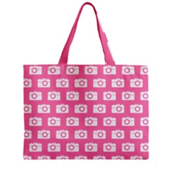 Pink Modern Chic Vector Camera Illustration Pattern Tiny Tote Bags