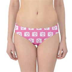 Pink Modern Chic Vector Camera Illustration Pattern Hipster Bikini Bottoms
