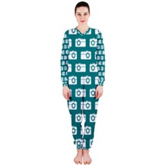 Modern Chic Vector Camera Illustration Pattern Onepiece Jumpsuit (ladies)