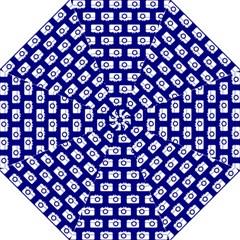 Modern Chic Vector Camera Illustration Pattern Folding Umbrellas
