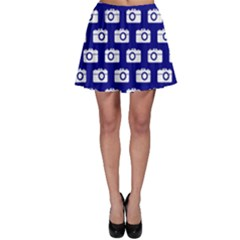 Modern Chic Vector Camera Illustration Pattern Skater Skirts