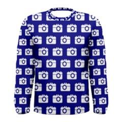 Modern Chic Vector Camera Illustration Pattern Men s Long Sleeve T-shirts