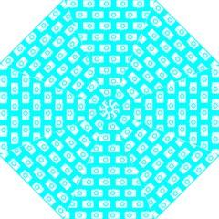 Modern Chic Vector Camera Illustration Pattern Hook Handle Umbrellas (Large)