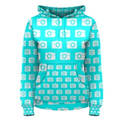 Modern Chic Vector Camera Illustration Pattern Women s Pullover Hoodies
