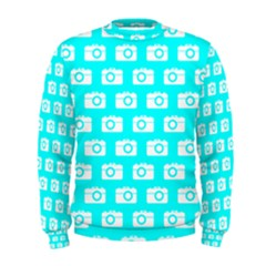Modern Chic Vector Camera Illustration Pattern Men s Sweatshirts