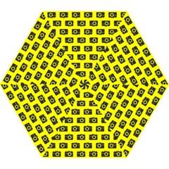 Modern Chic Vector Camera Illustration Pattern Mini Folding Umbrellas