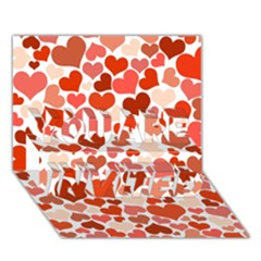 Heart 2014 0901 You Are Invited 3d Greeting Card (7x5)