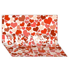 Heart 2014 0901 Engaged 3d Greeting Card (8x4)