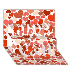 Heart 2014 0901 THANK YOU 3D Greeting Card (7x5)