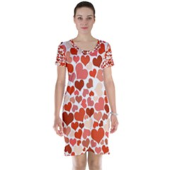 Heart 2014 0901 Short Sleeve Nightdresses