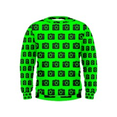 Modern Chic Vector Camera Illustration Pattern Boys  Sweatshirts