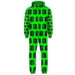 Modern Chic Vector Camera Illustration Pattern Hooded Jumpsuit (Men)