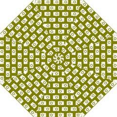 Modern Chic Vector Camera Illustration Pattern Hook Handle Umbrellas (Small)