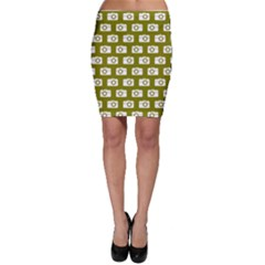 Modern Chic Vector Camera Illustration Pattern Bodycon Skirts