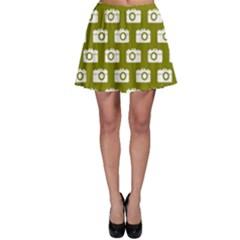 Modern Chic Vector Camera Illustration Pattern Skater Skirts