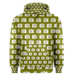 Modern Chic Vector Camera Illustration Pattern Men s Zipper Hoodies