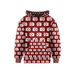 Modern Chic Vector Camera Illustration Pattern Kid s Pullover Hoodies