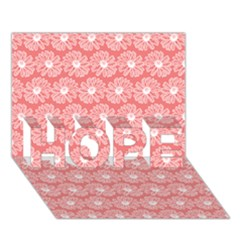 Coral Pink Gerbera Daisy Vector Tile Pattern Hope 3d Greeting Card (7x5)