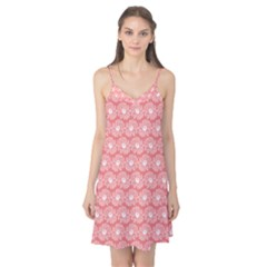 Coral Pink Gerbera Daisy Vector Tile Pattern Camis Nightgown