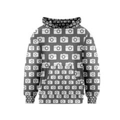 Modern Chic Vector Camera Illustration Pattern Kid s Pullover Hoodies