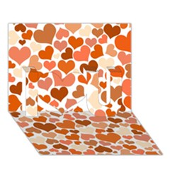 Heart 2014 0902 I Love You 3d Greeting Card (7x5)