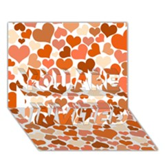 Heart 2014 0902 YOU ARE INVITED 3D Greeting Card (7x5)