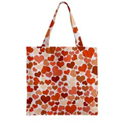 Heart 2014 0902 Zipper Grocery Tote Bags