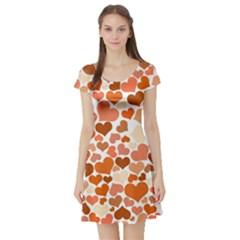 Heart 2014 0902 Short Sleeve Skater Dresses