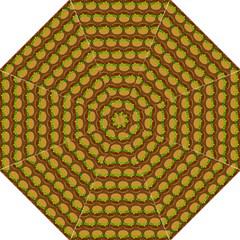 Burger Snadwich Food Tile Pattern Folding Umbrellas