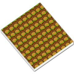Burger Snadwich Food Tile Pattern Small Memo Pads