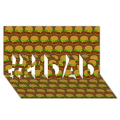 Burger Snadwich Food Tile Pattern #1 Dad 3d Greeting Card (8x4)