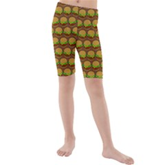 Burger Snadwich Food Tile Pattern Kid s Swimwear
