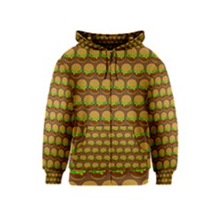 Burger Snadwich Food Tile Pattern Kids Zipper Hoodies