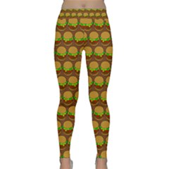 Burger Snadwich Food Tile Pattern Yoga Leggings