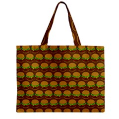 Burger Snadwich Food Tile Pattern Zipper Tiny Tote Bags
