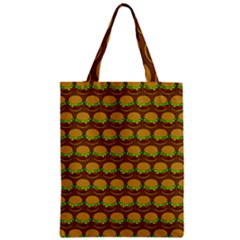 Burger Snadwich Food Tile Pattern Zipper Classic Tote Bags