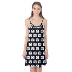 Modern Chic Vector Camera Illustration Pattern Camis Nightgown