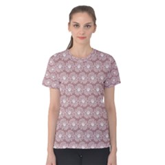 Gerbera Daisy Vector Tile Pattern Women s Cotton Tees