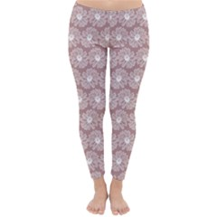 Gerbera Daisy Vector Tile Pattern Winter Leggings