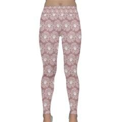 Gerbera Daisy Vector Tile Pattern Yoga Leggings