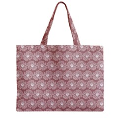 Gerbera Daisy Vector Tile Pattern Zipper Tiny Tote Bags