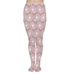 Gerbera Daisy Vector Tile Pattern Women s Tights