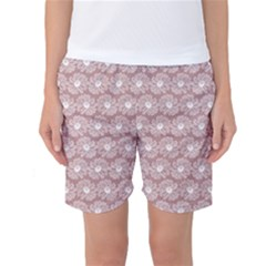 Gerbera Daisy Vector Tile Pattern Women s Basketball Shorts