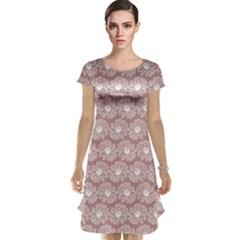 Gerbera Daisy Vector Tile Pattern Cap Sleeve Nightdresses