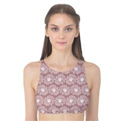 Gerbera Daisy Vector Tile Pattern Tank Bikini Top