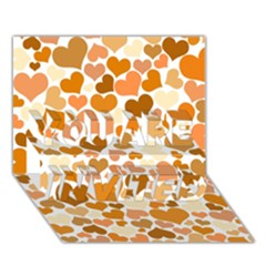 Heart 2014 0903 You Are Invited 3d Greeting Card (7x5)